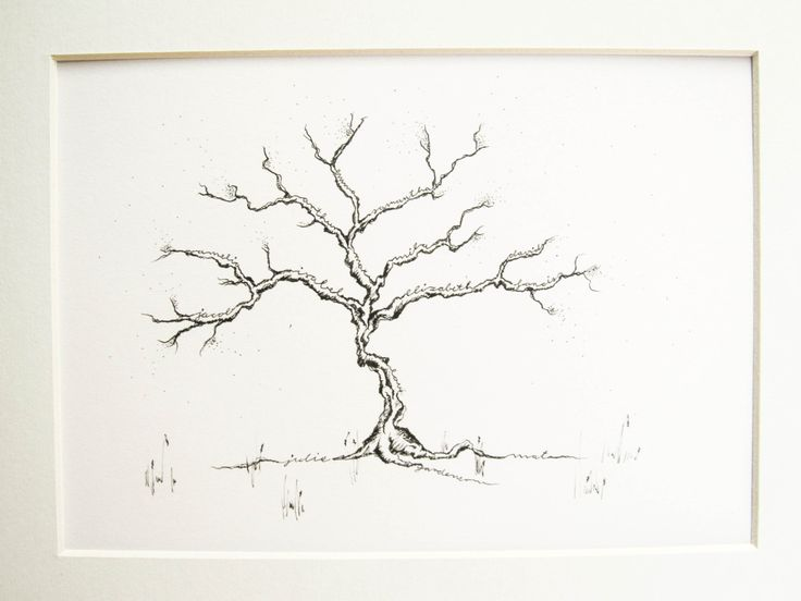 Custom family tree drawing intricate original ink for Minimal art family