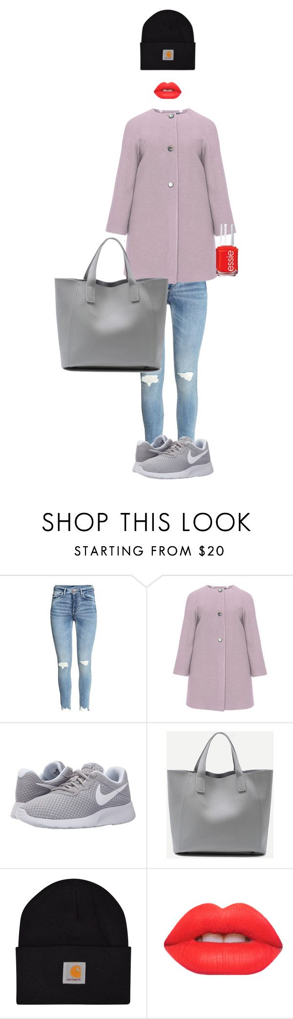 winter #1 by meanixee on Polyvore featuring navabi, NIKE, Carhartt, Lime Crime and Essie