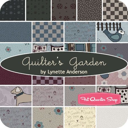 Captivating Quilteru0027s Garden Fat Quarter Bundle Lynette Anderson For RJR Fabrics