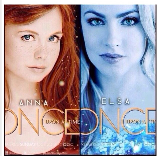 Anna and Elsa - Once Upon A Time. Can't wait!!!