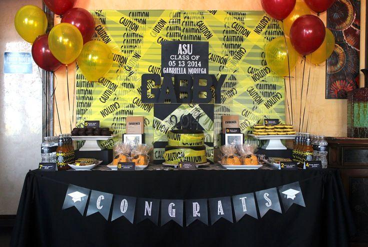 Criminal Justice Graduation Cakes | Party Bee} Gabby's Criminology Graduation Party!