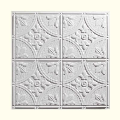 Genesis, 2 ft. x 2 ft. Antique White Ceiling Tile, 752-00 at The Home Depot - Mobile