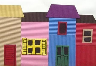 Cardboard city collage