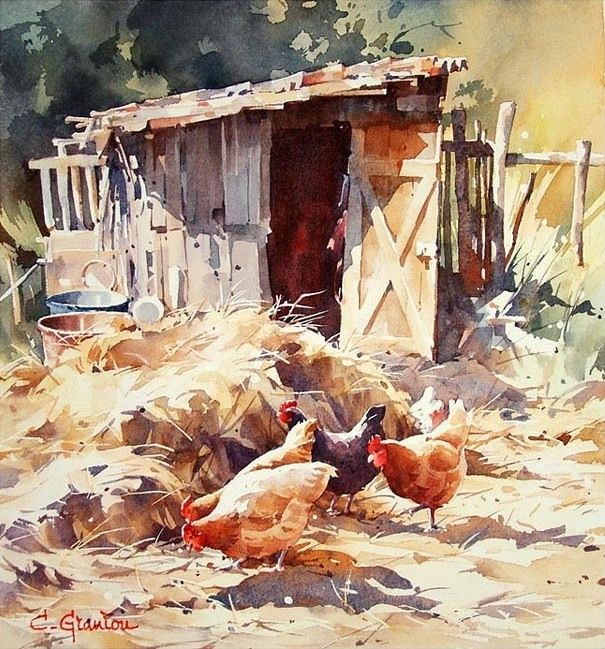 Christian Graniou-Watercolor: