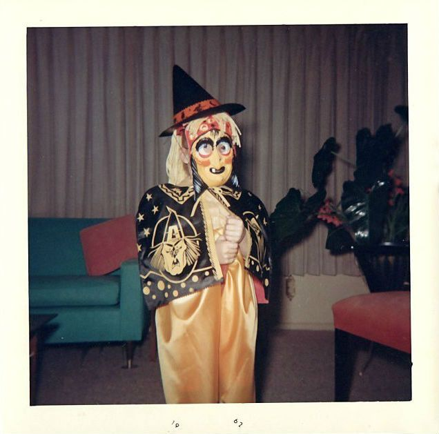 googly eyed witch vintage halloween costume 1960s - Vintage Halloween Witches