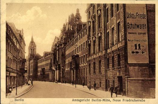 Berlin ca.1905 Amtsgericht Berlin-Mitte in der Neuen Friedrichstrasse (heute Littenstrasse)