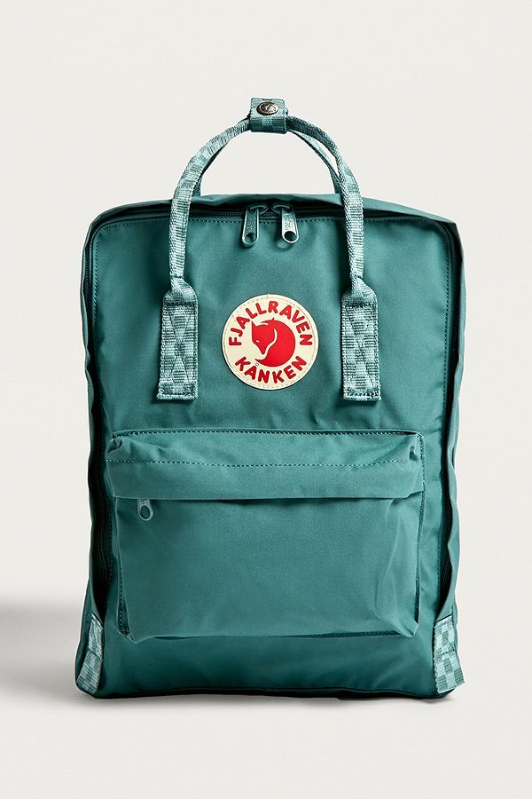 Fjallraven Kanken Classic Frost Green Checkerboard Backpack Fjallraven Kanken Kanken Kanken Classic