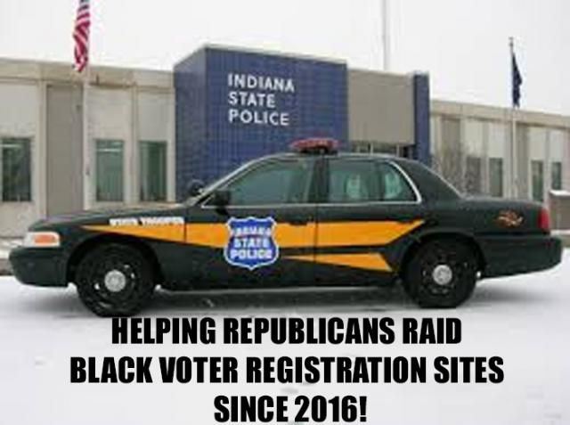 State Police Raids On Voter Registration In Mike Pence's Indiana