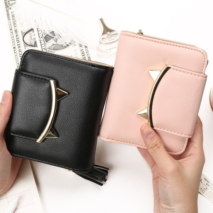 2016 fashion tassels style cute Women Short Wallet with Metal Hasp Lock female Change Purse multi Card Holder Girls Clutch #wallet #purse #clutch