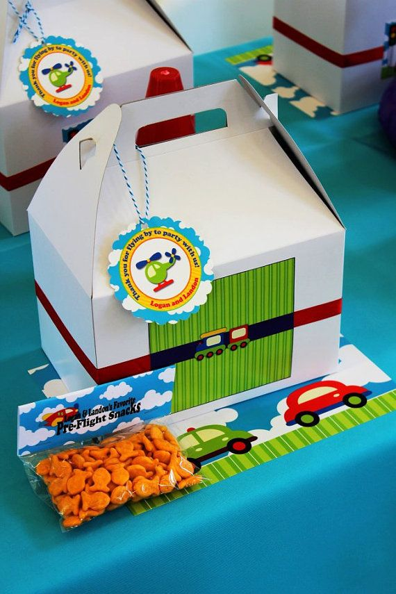 Set of 12 Transportation Jumbo Party Favor by PartyPlanItDesigns, $12.00