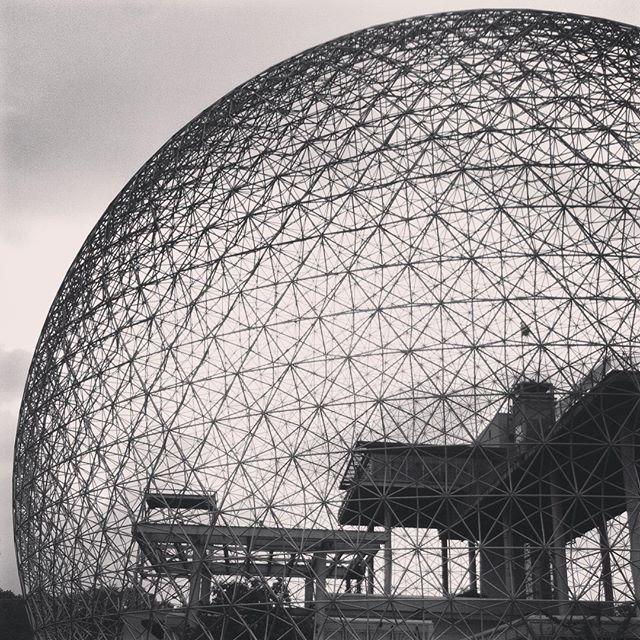 Beautiful environmental museum #biosphère for #expo67 #îlesaintehélène #montreal