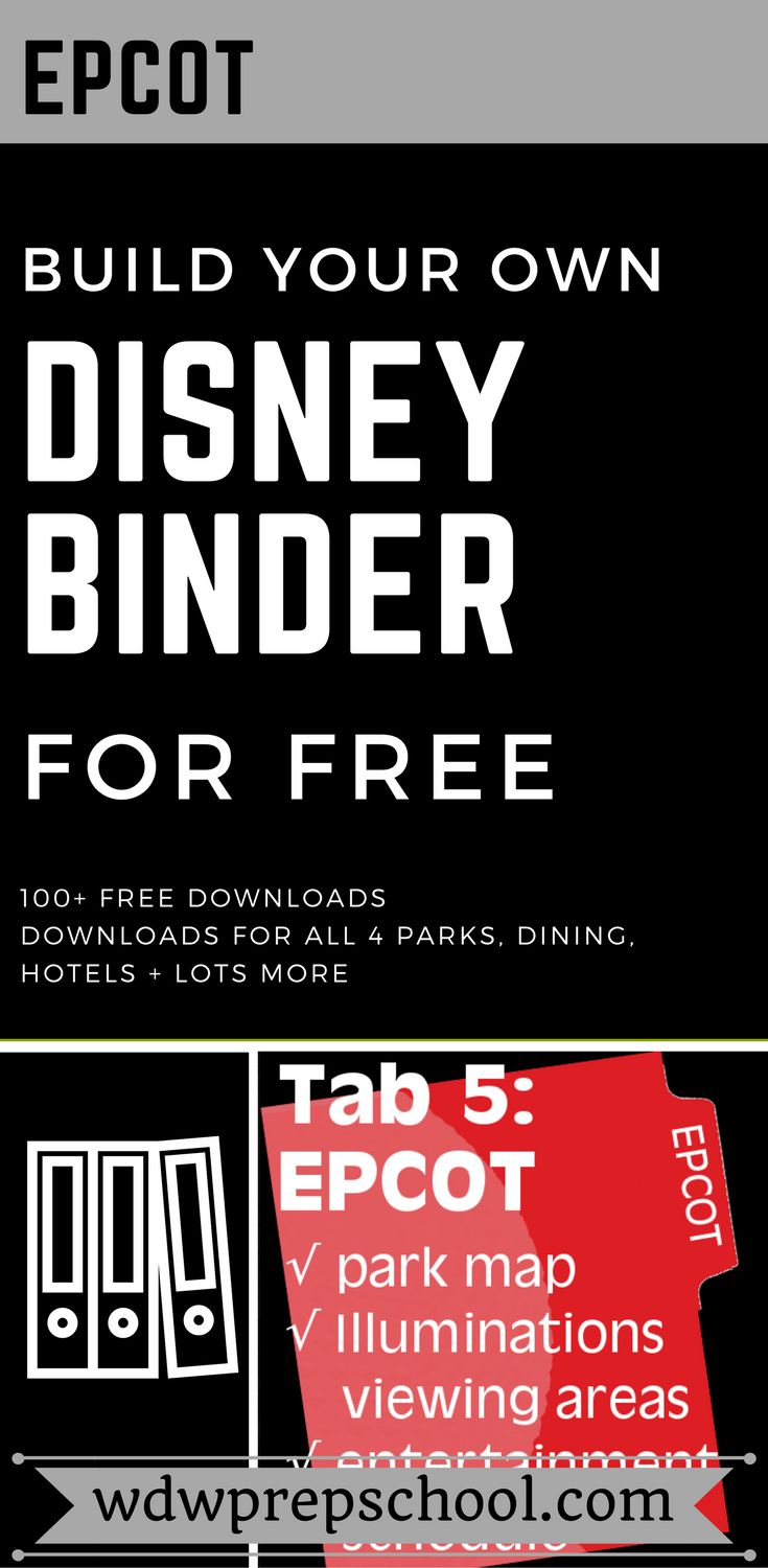 Sometimes paper is better | Build your own Disney World Binder to help plan your next vacation | 100 plus free downloads | Disney World Maps | Animal Kingdom | Epcot | Magic Kingdom | Hollywood Studios