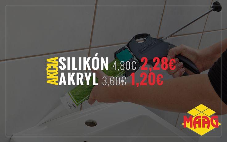 MAAG vám ponúka kompletné služby vo svete obkladov a dlažieb. Preto v našej ponuke, okrem kvalitných talianskych obkladov a dlažieb, nájdete aj sanitárnu techniku a stavebnú chémiu. Silikón – z pôvodnej ceny 4,80 €, teraz len za 2,28 €! Akryl – z pôvodnej ceny 3,60 €, teraz len za 1,20 €! Viac info: http://www.maag.sk/produkt/akcia-sanita/silikon-a-akryl/