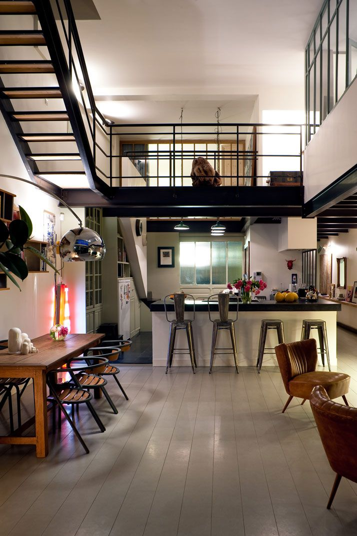 loft industriel design contemporain