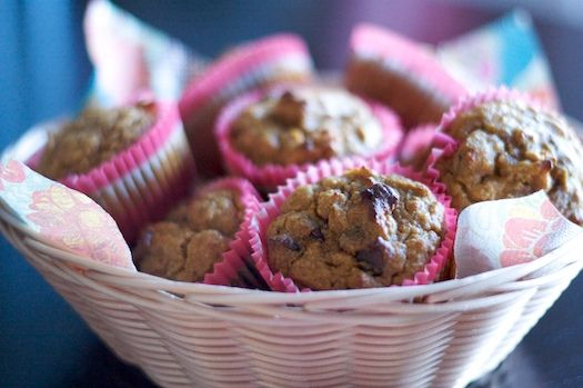 Primal Pumpkin Nut Muffins (just use chocolate chips instead of nuts)