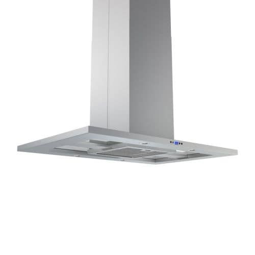 Zephyr ZMD-M90AS 715 CFM 36 Inch Wide Island (Blue) Range Hood with Dcbl Suppression System, Bloom HD LED Lighting, and Electronic LCD