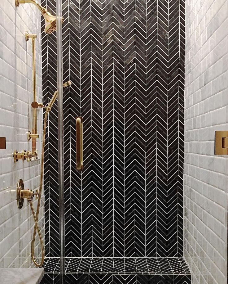 Cool ideas de azulejos de baño habitación pequeña #bathroomtile #b bathroomflooring # … baños
