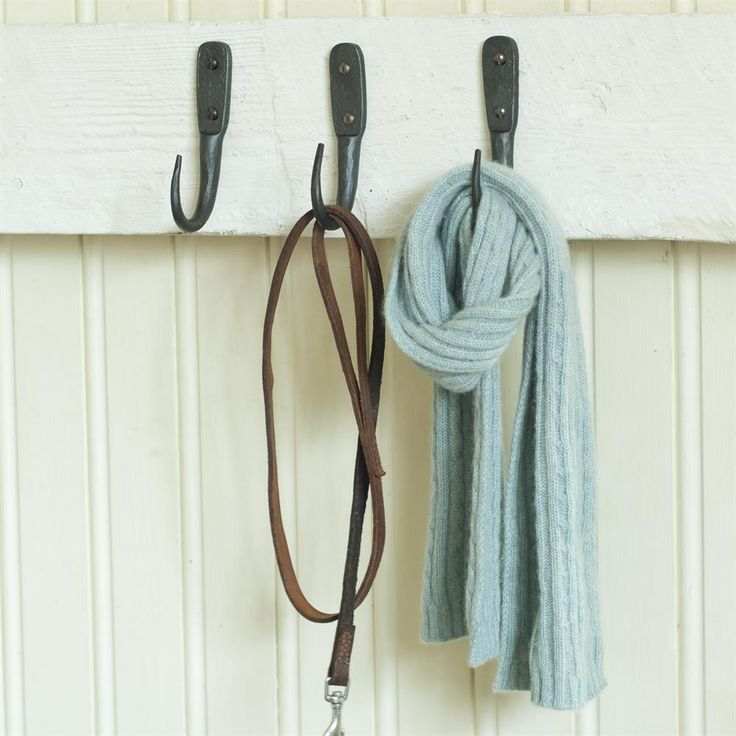 Solid #steel #hand #forged wall #hooks available in a range of sizes and finishes.