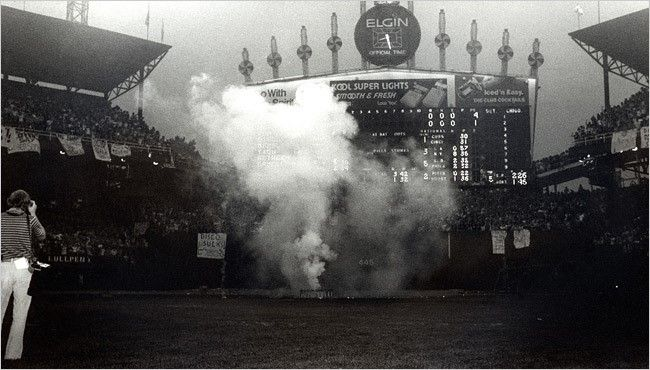 In part three of our Baseball's Worst Marketing Promotions Ever series, we take a look at the horror that was Disco Demolition Night.