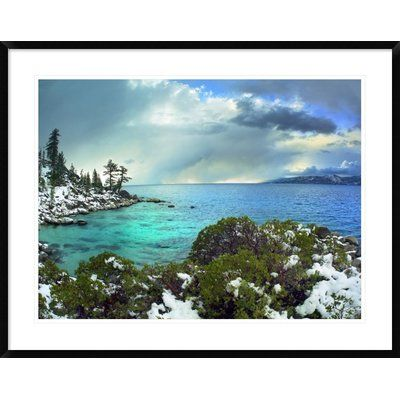 """Global Gallery Memorial Point, Lake Tahoe, Nevada by Tim Fitzharris Framed Photographic Print Size: 30"""" H x 38"""" W x 1.5"""" D"""