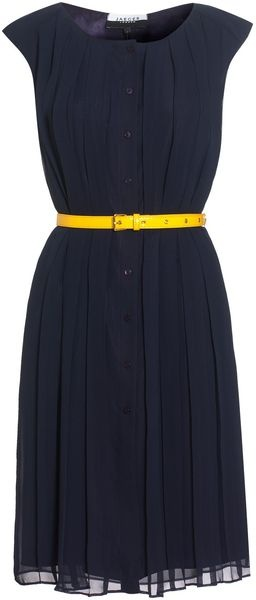 Jaeger All Over Pleated Dress
