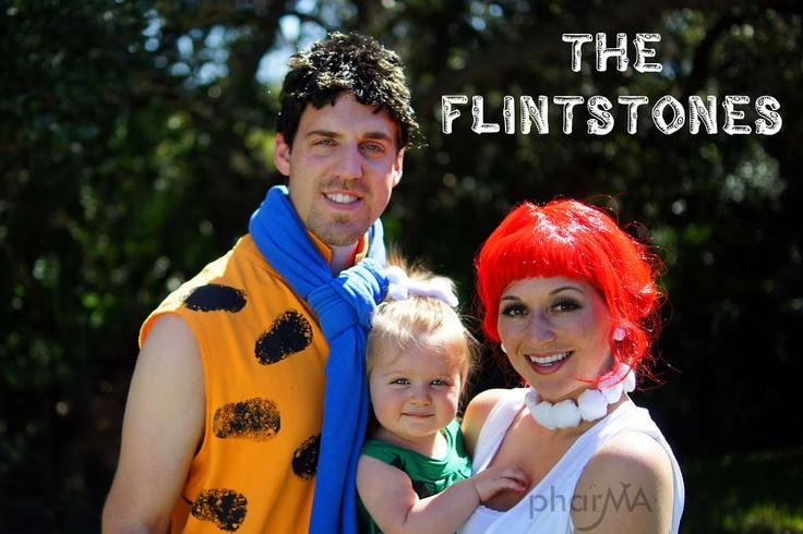 DIY Flintstones costumes. family Halloween costumes