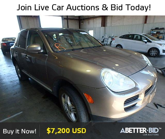 Salvage  2004 PORSCHE CAYENNE for Sale - WP1AB29P24LA69849 - https://abetter.bid/en/vehicle-finder-auto-auctions/salvage-cars-for-sale/porsche/cayenne/2004-porsche-cayenne-lot-26592915-copart-dallas-tx-vin-WP1AB29P24LA69849