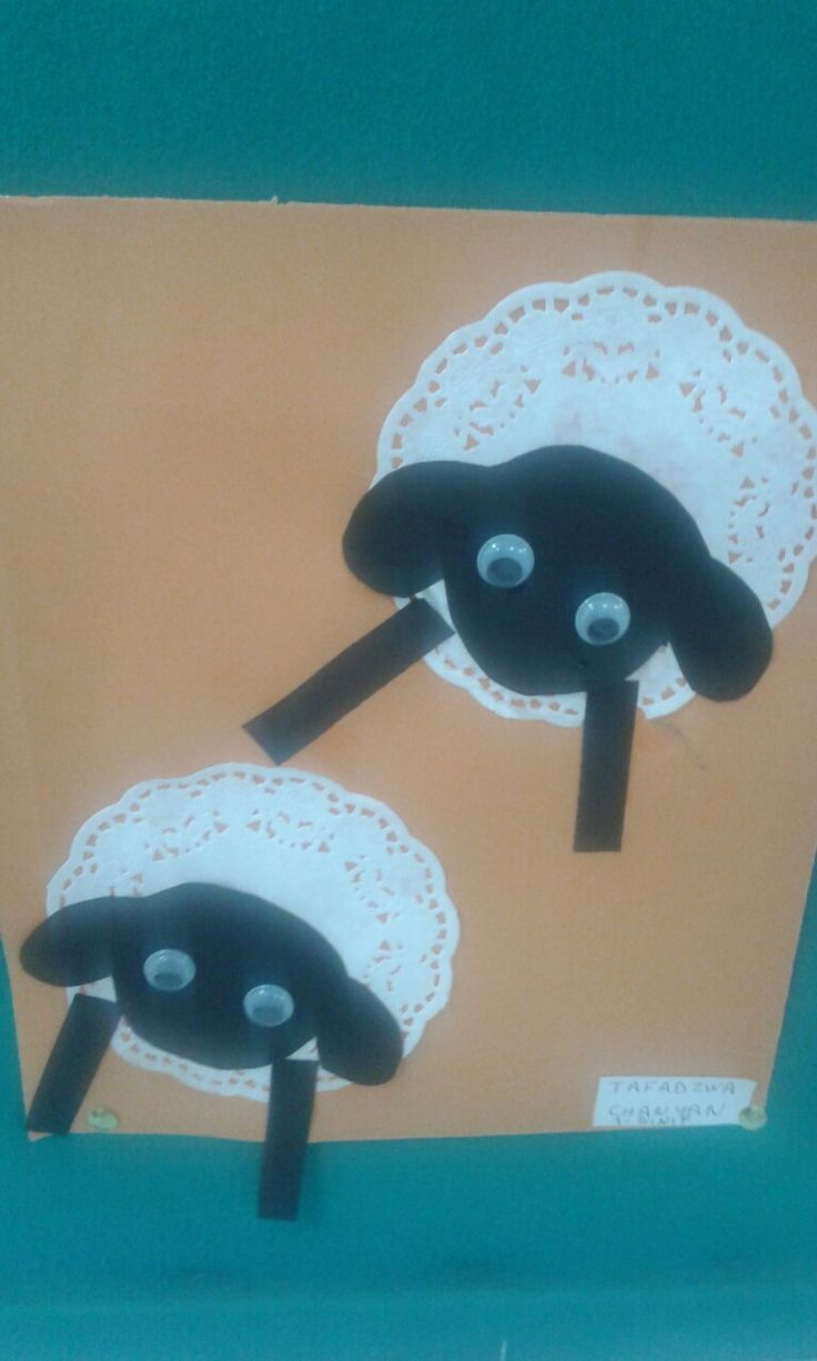 Art and craft for class activities. Paper sheep. I absolutely love these. Made by Tafadzwa Micheal Chanyau