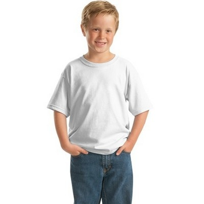 Youth Heavy Cotton Shirt White Min 25 - Double needle sleeves and bottom hem shirt. http://www.promosxchange.com.au/youth-heavy-cotton-shirt-white/p-8405.html