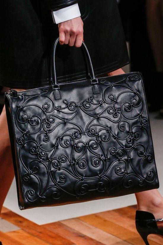 Valentino ~ Leather Handbag, Black