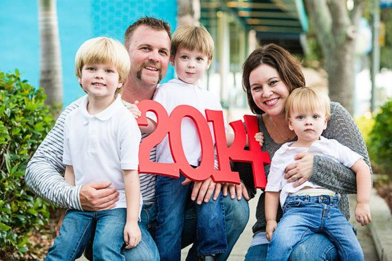 """Photo Prop """"2014"""" - Year Sign - Holiday Card Prop for Family Photography - Christmas or Graduation (Item - YRH100)"""