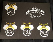 Run Disney Princess Decal