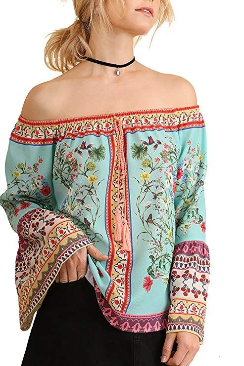 deae175647a Border Print Top   boho summer tops women   Chic Fashion for Women   cutebohotops  summerbohotops  boho