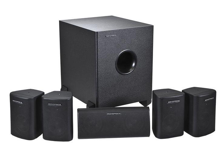 5.1 Speaker Home Theater Surround Sound System 5 Satellite Speakers 1 Subwoofer