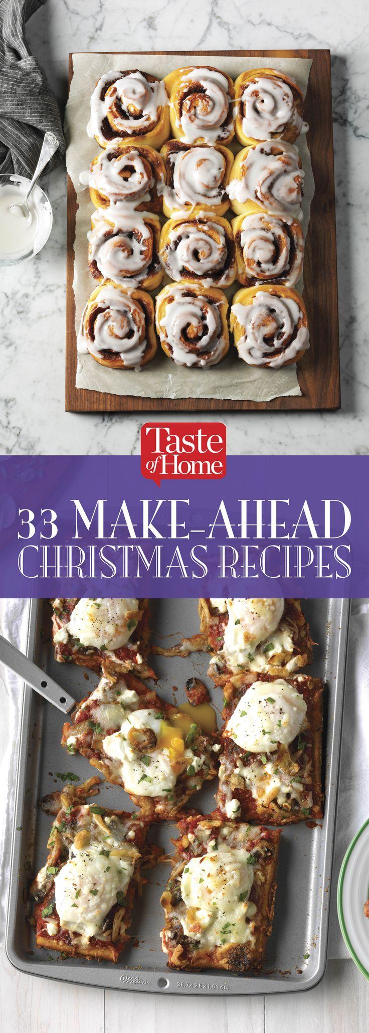 33 Make-Ahead Christmas Recipes