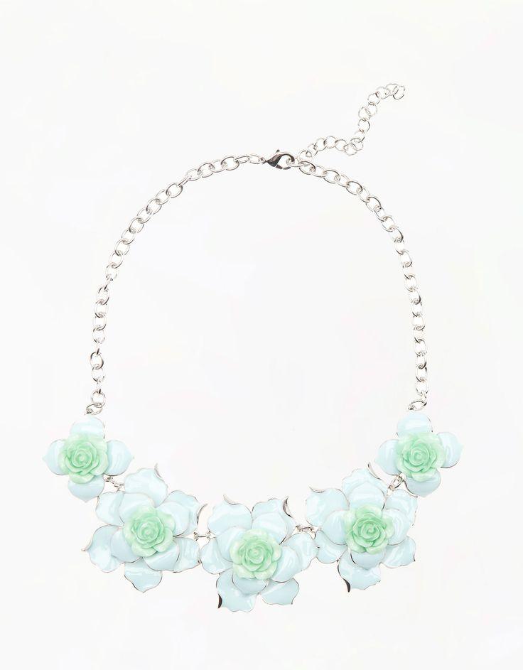 Bershka Romania - Enamel flower necklace