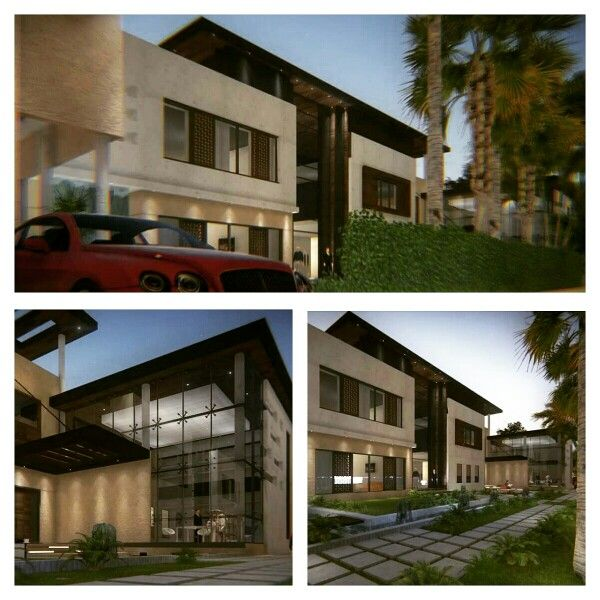 Bungalow 3d Rendering Contemporary Bungalow Rendering: Villa Modern... Interface Design... 3dmax & Lumion 5.0