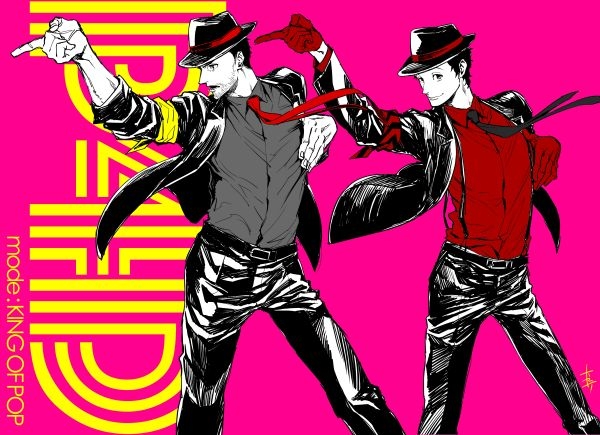 illustration byRokuro Saito (P4U2 manga artist) @s_696 on twitter! How many games is adachi gonna break out of jail just to be a part of haha.