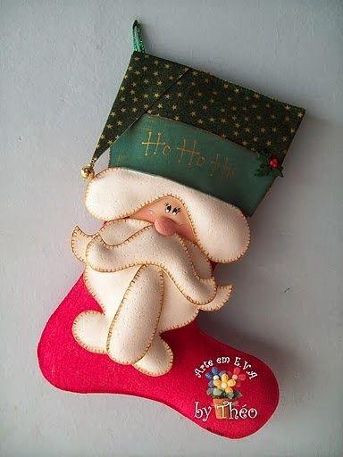 Bota navideña, moldes   Creatividad Pastelito