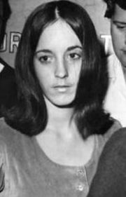Susan Atkins, a key witness in the Sharon Tate murder trial is seen, in this 1969 file photo. Atkins, the former Charles Manson follower who confessed to killing pregnant actress Sharon Tate during a murderous rampage in 1969, has a terminal illness and has asked for compassionate release from prison in her final days, authorities said Thursday June 12, 2008