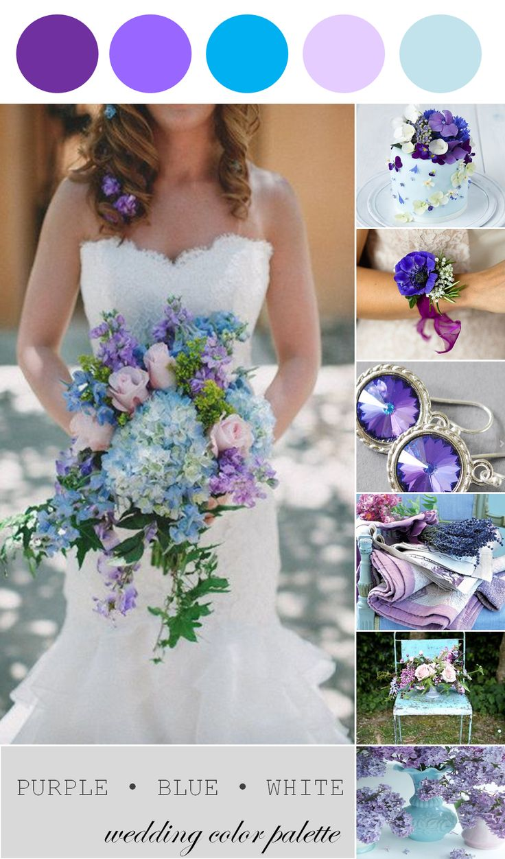 Wedding Color Palette | Purple, Blue and White