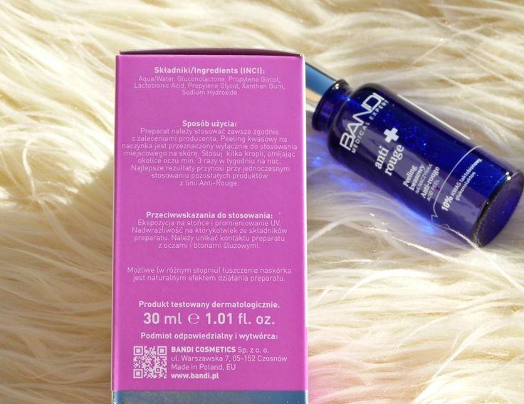 1001 Pasji: Kwas laktobionowy w mojej pielęgnacji - BANDI Anti Rouge + Peeling kwasowy na naczynka 10% kwas laktobionowy, glukonolakton /recenzja/
