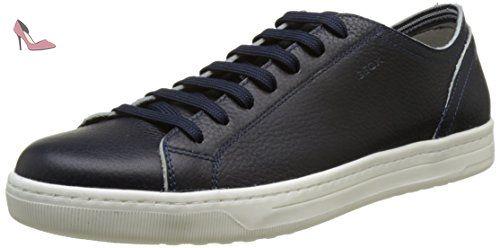 Geox Nebula A, Sneakers Basses Garçon, Bleu (Navy/Lime), 30 EU