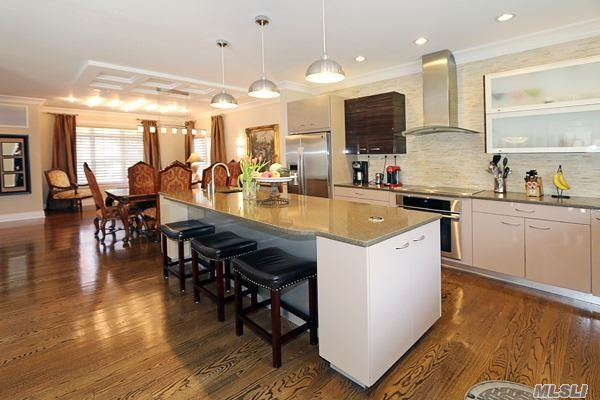 #OpenHouse: This Diamond Young Open Concept Colonial With 10' Ceilings and Huge Scandinavian Kitchen With 10' Island is definitely a true stunner!