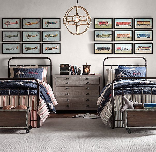RH baby&child's Millbrook Iron Bed:Inspired by an antique, this versatile collection has a nostalgic design reminiscent of many an American childhood.