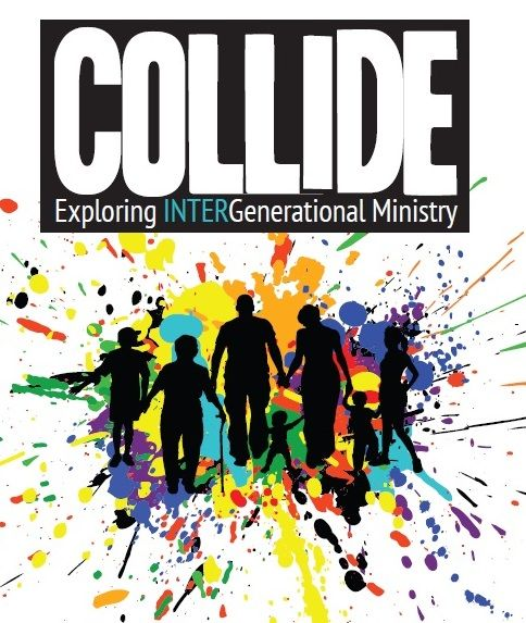 A book exploring intergenerational ministry. COLLIDE challenges the church to BE the church and the answer the call the connect as a family with families