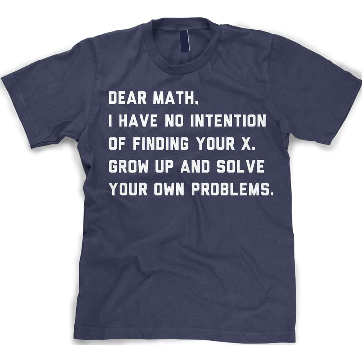 Youth Solve Your Own Problems Math T Shirt Funny School Tee For Kids