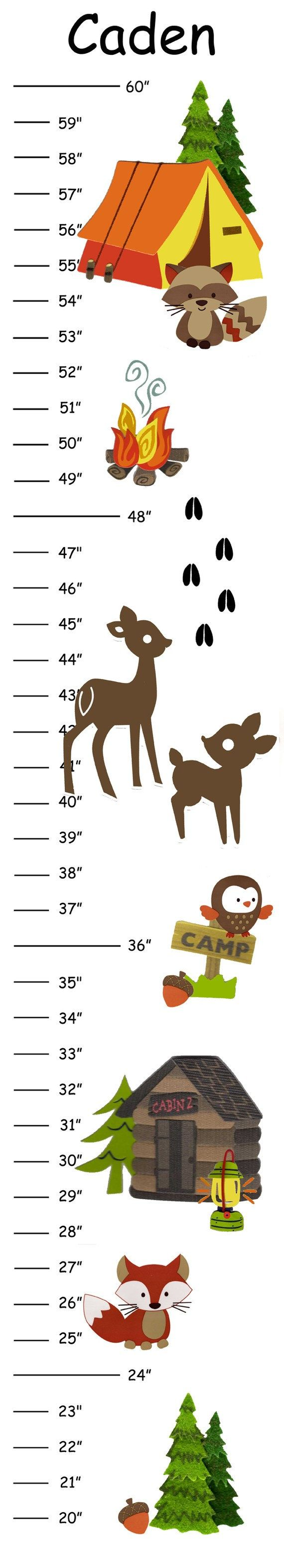 The 25 best baby boy growth chart ideas on pinterest boy personalized deer camp canvas growth chart by camieturnerdesigns 2100 nvjuhfo Images
