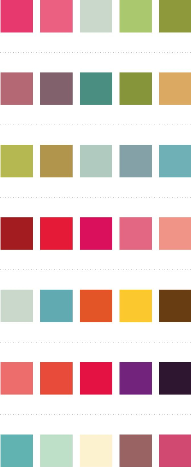 color combos for coordinating clothes for family pictures...I will definately need this