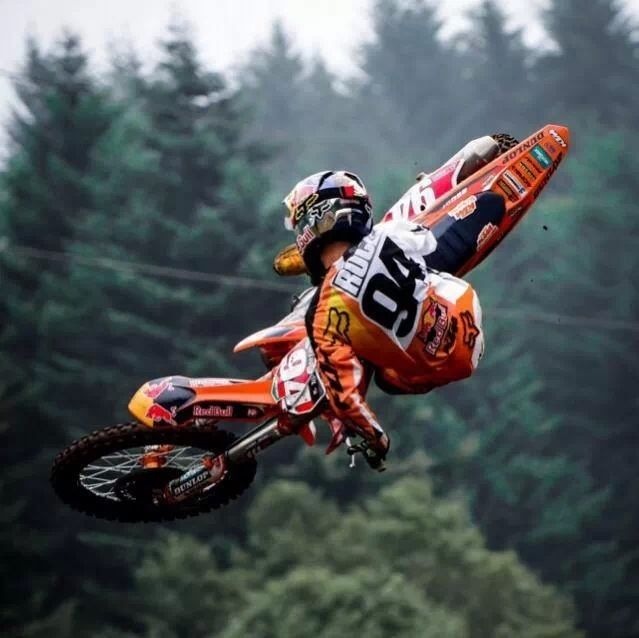 KTM Dirt Bike Airborne